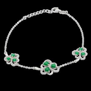 Three Shamrock Link Bracelet