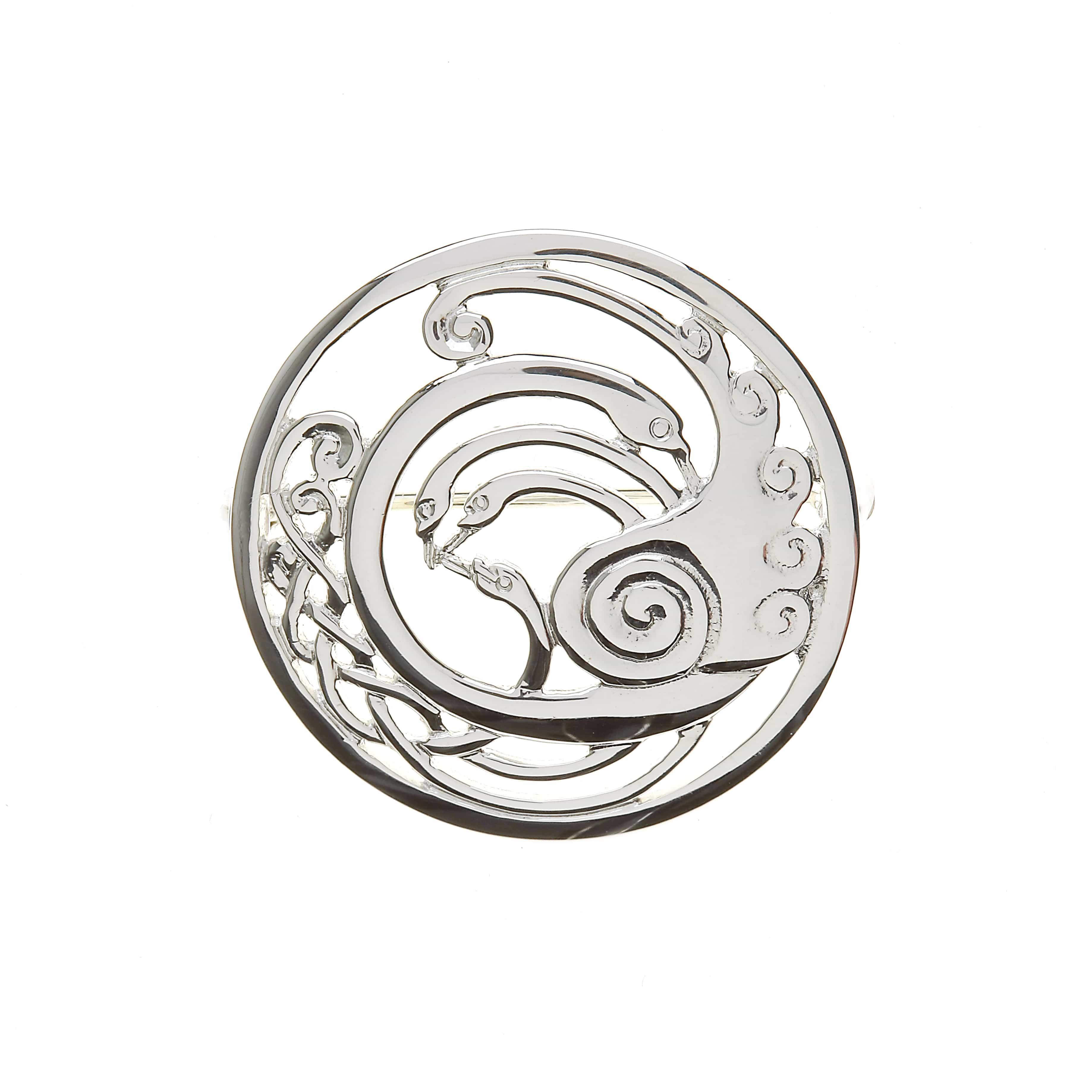 Large Celtic Knot Swans