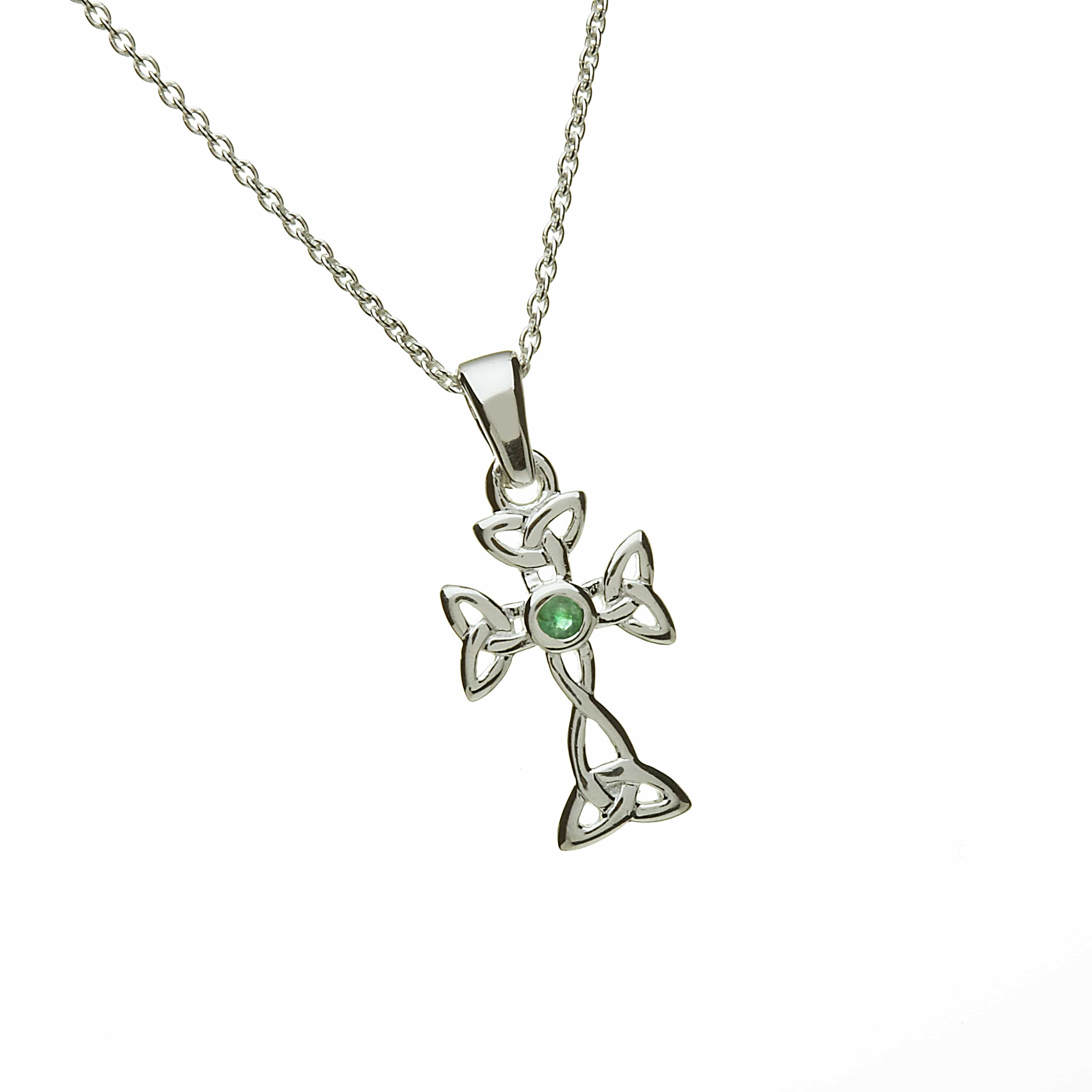 Emerald Set Celtic Cross