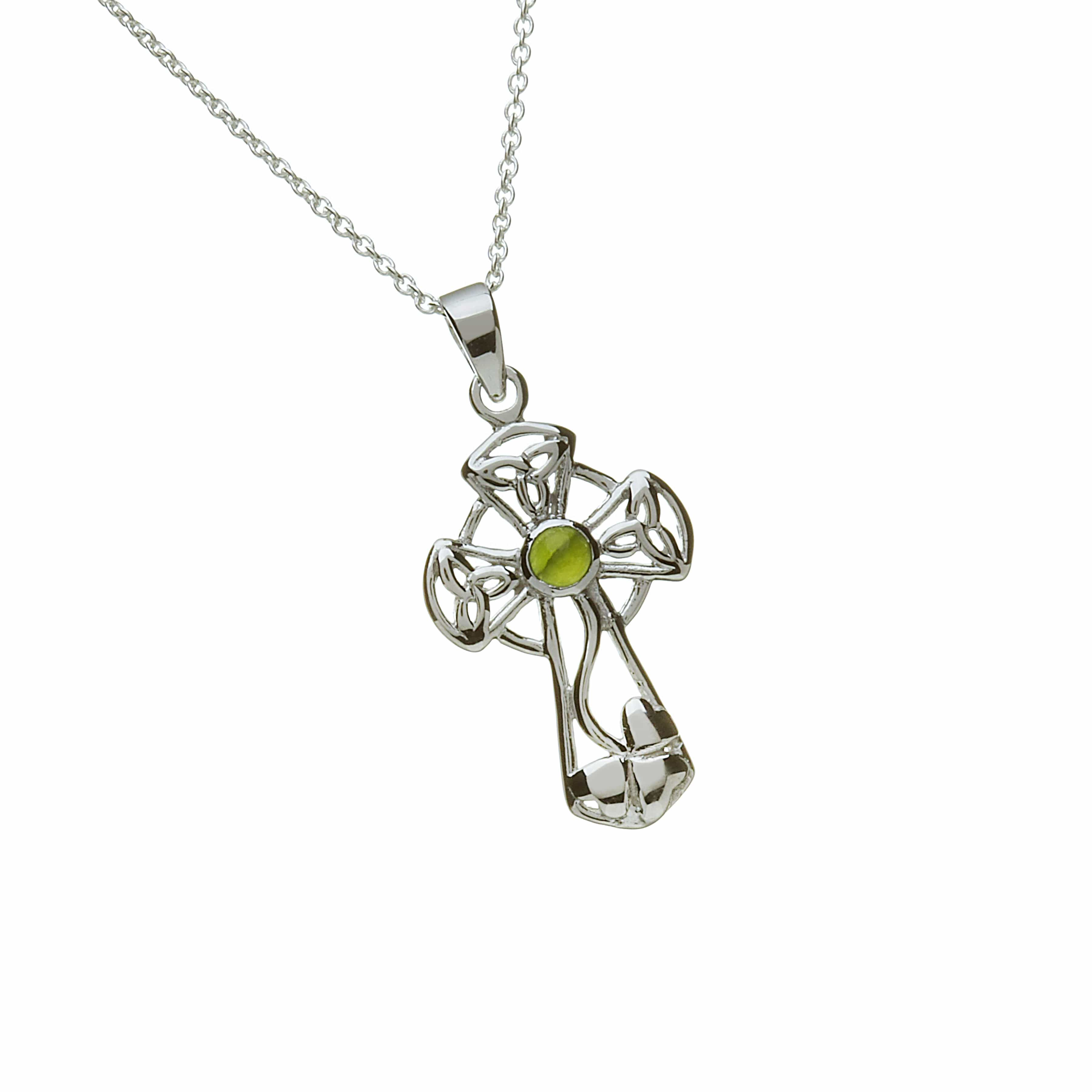 Jade Set Celtic Cross
