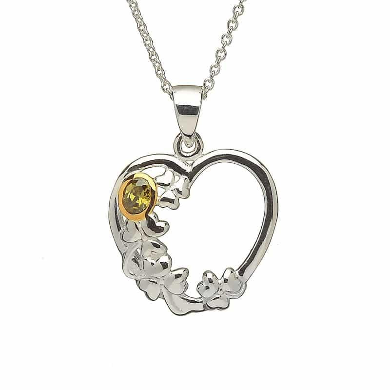 Heart & Shamrock Pendant