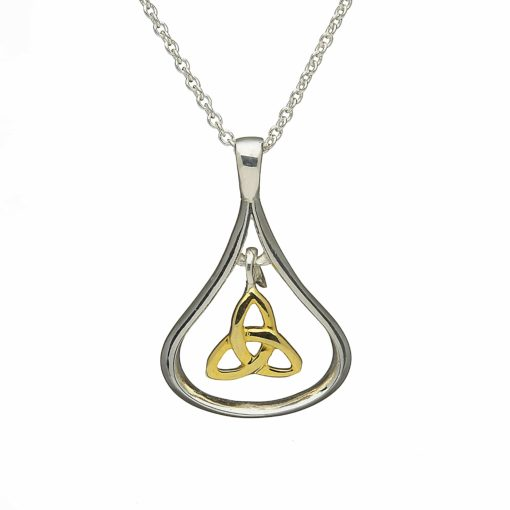 Silver & Gold Plated Trinity Knot