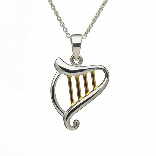 Celtic Harp & Gold Plated Detail