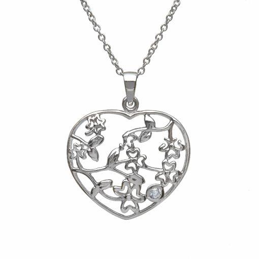 Heart Pendantshamrock Floral