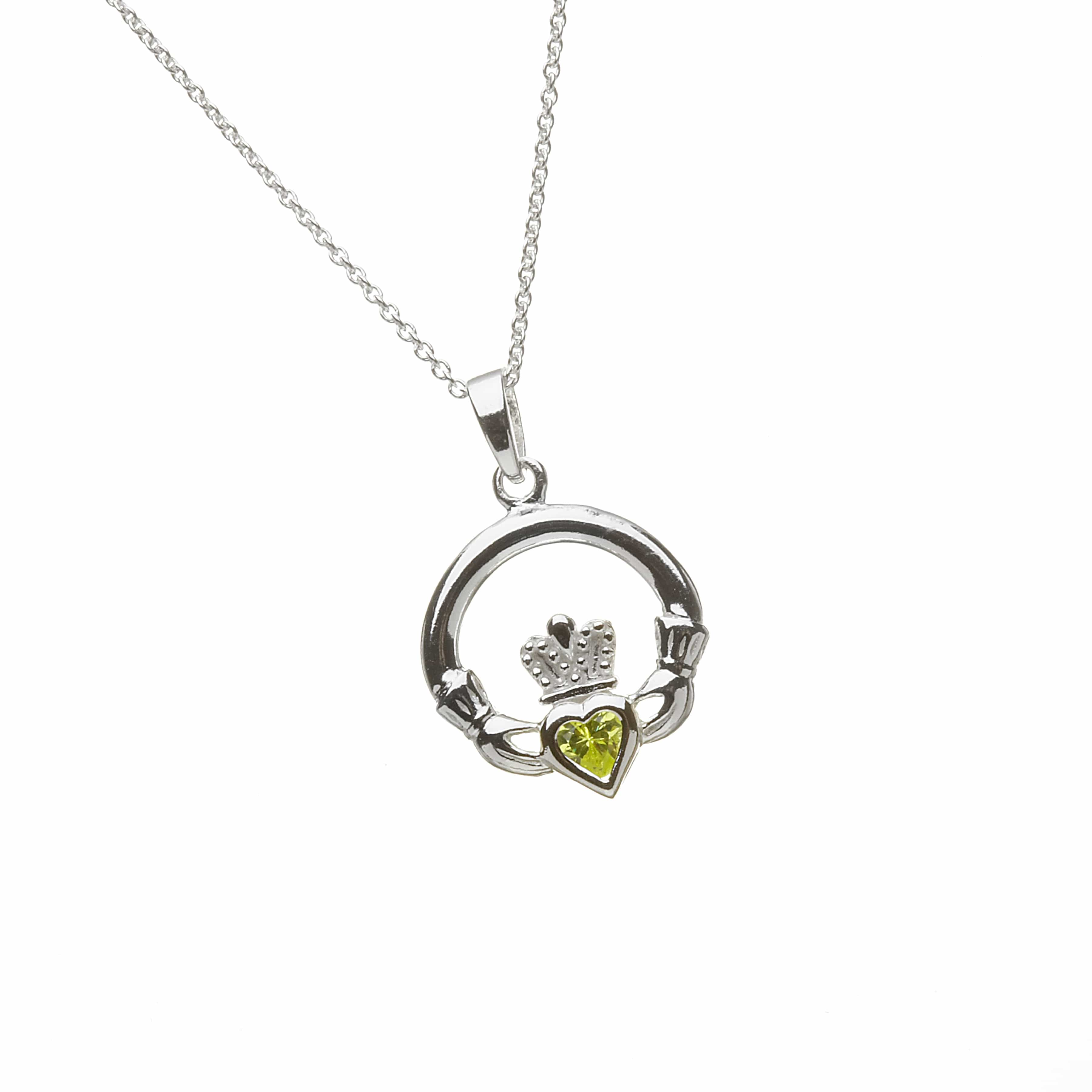 Birthstone Claddagh - August