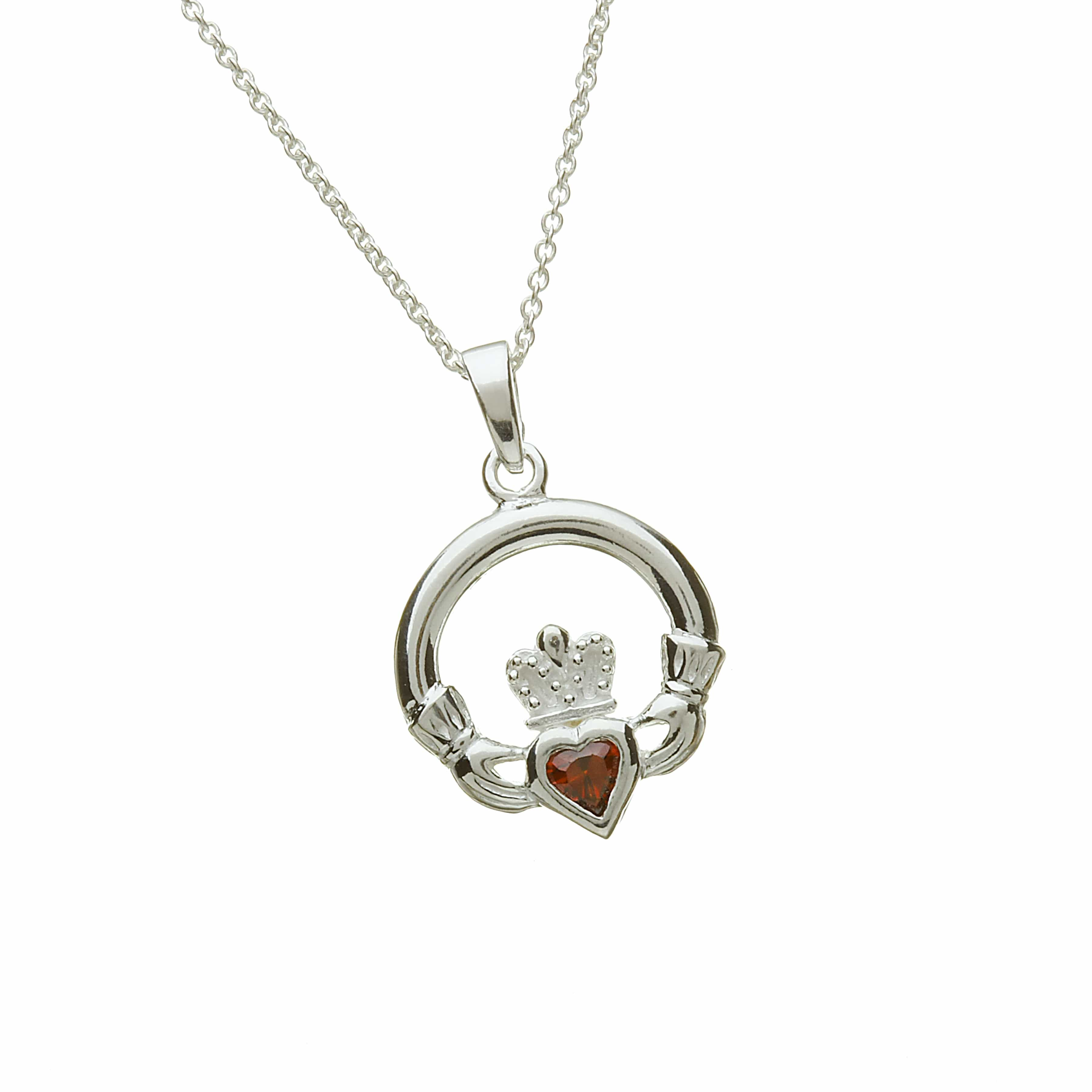 Birthstone Claddagh-January
