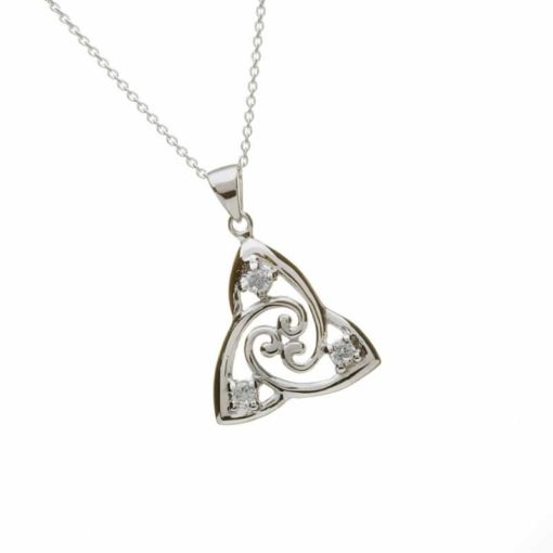 Cz Trinity Knot Pendant