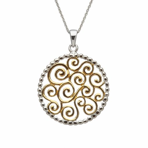 white round the pendant silver celtic topaz gold highland sterling product shoppe