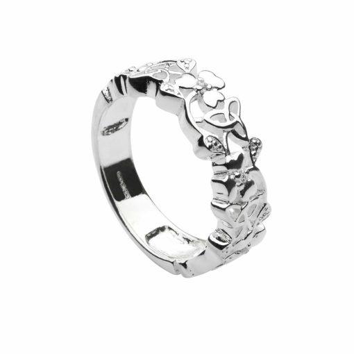 Shamrock & Trinity Knot Ring