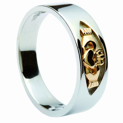 Silver & 10Ct Gold Band