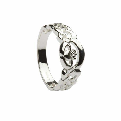 Silver Nua Claddagh Ring