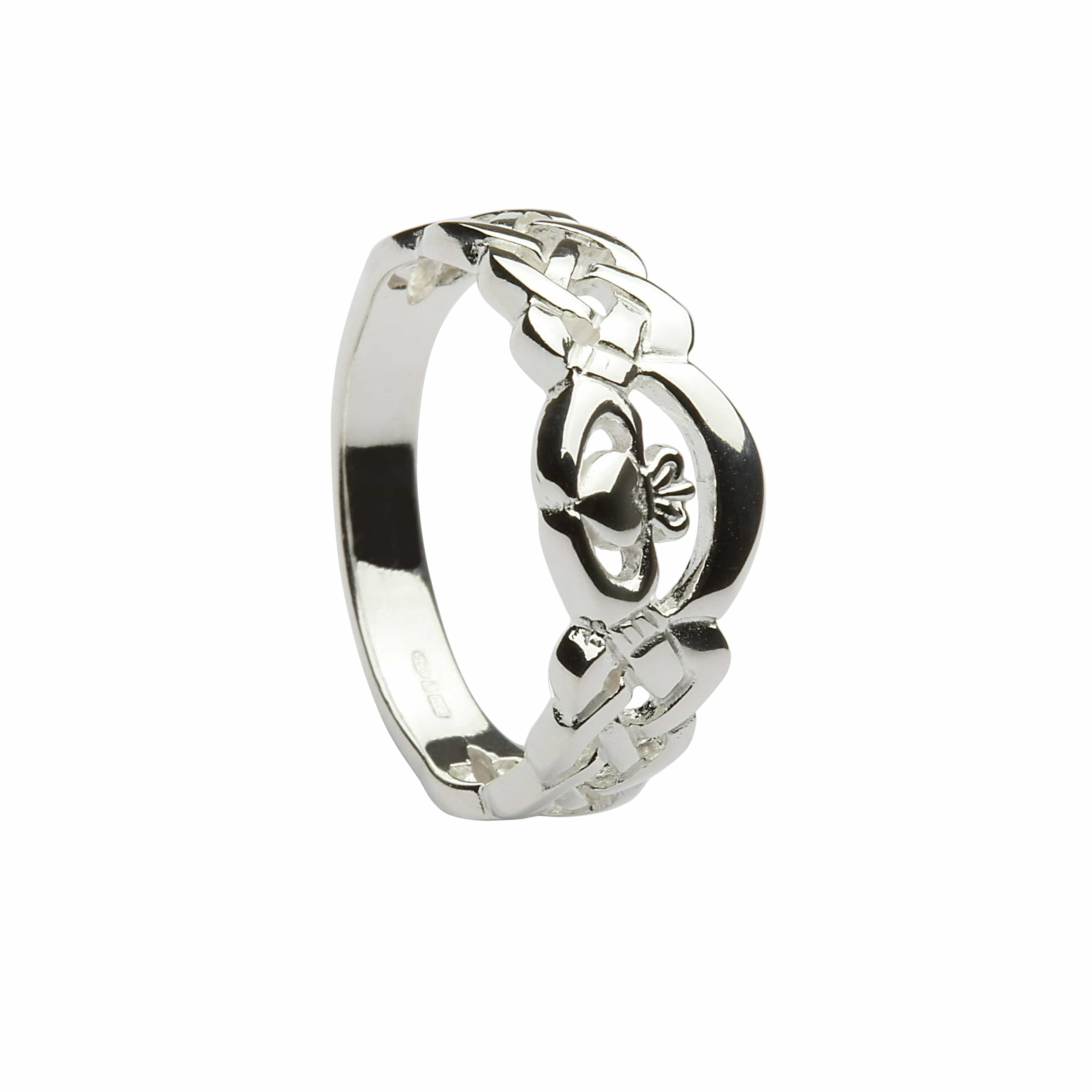 silver nua claddagh ring