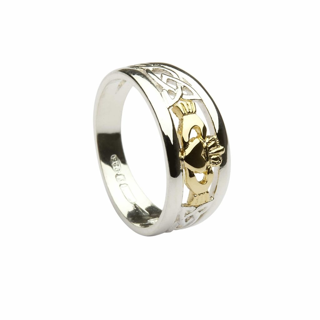 Silver & 10Ct Gold Claddagh