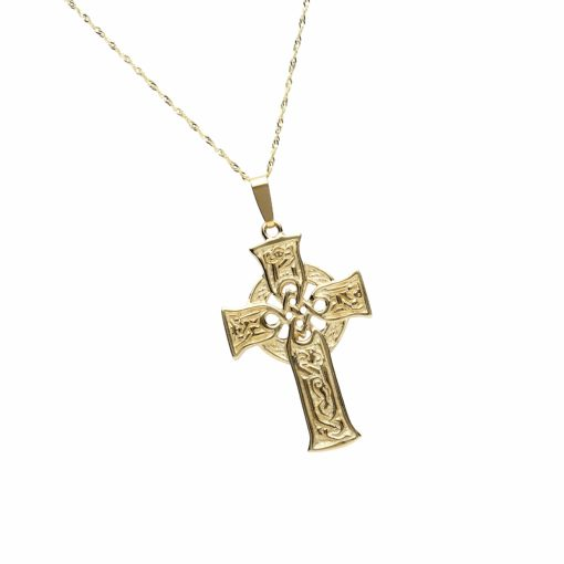 10Ct Carved Scripture Cross