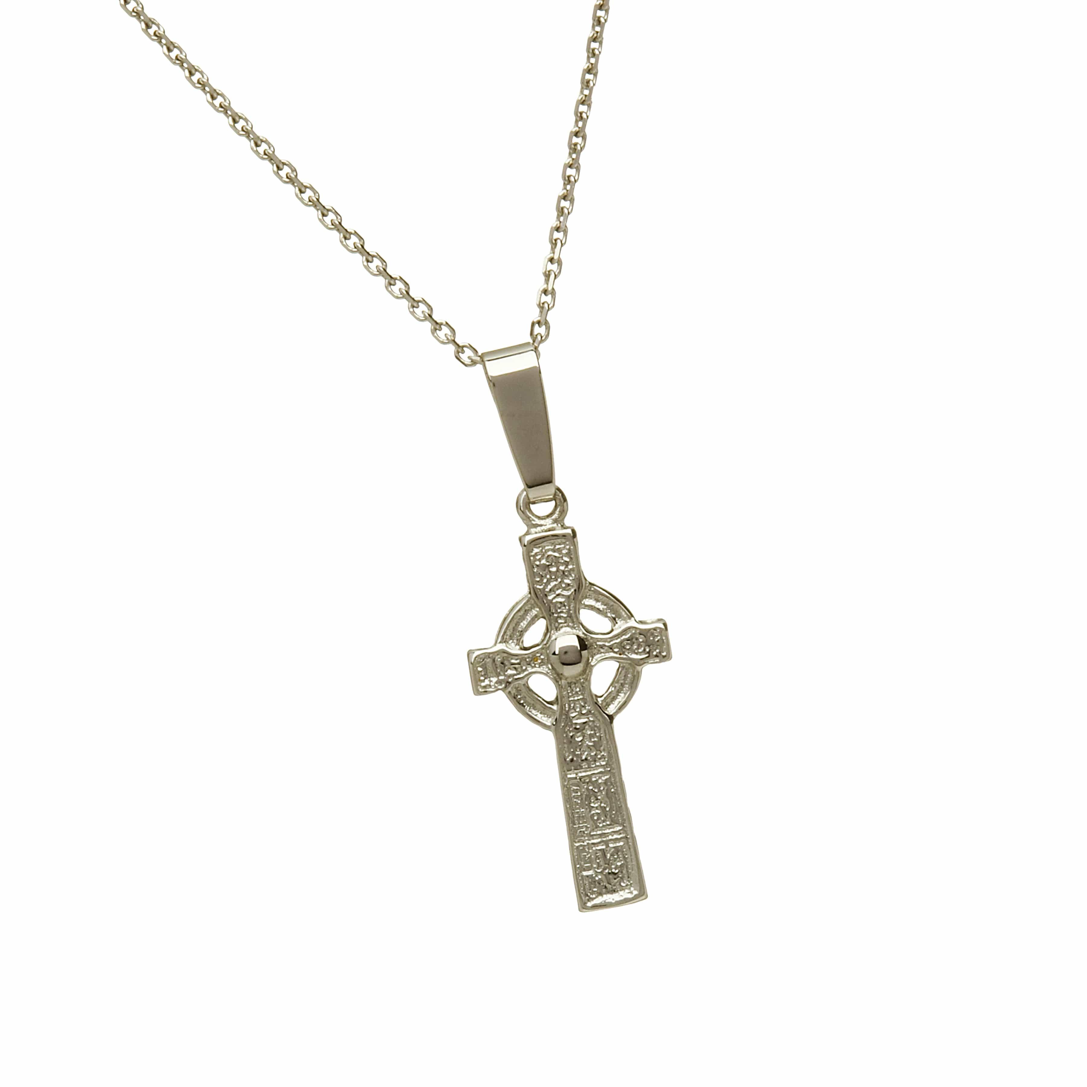 10Ct White Gold Duleek Cross
