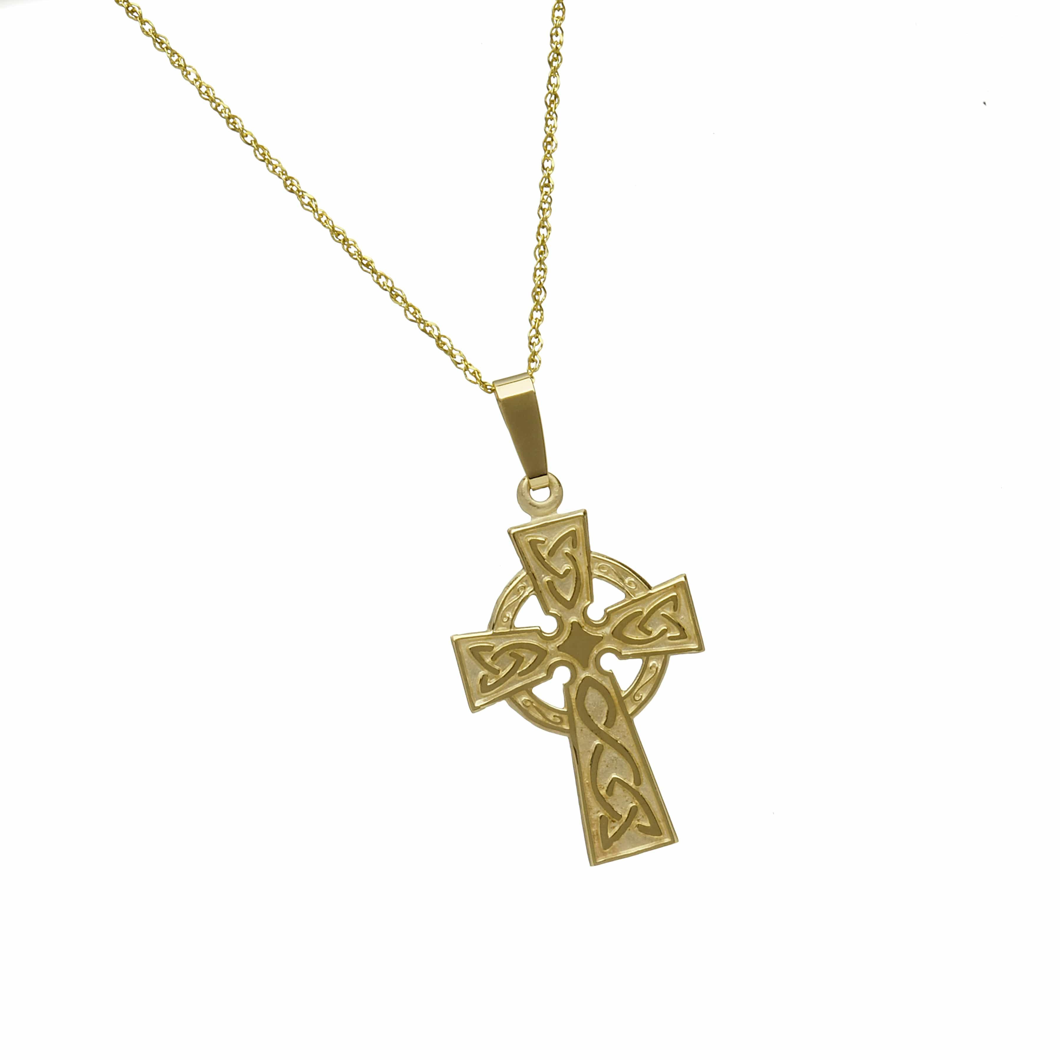 10Ct Engraved Back Cross