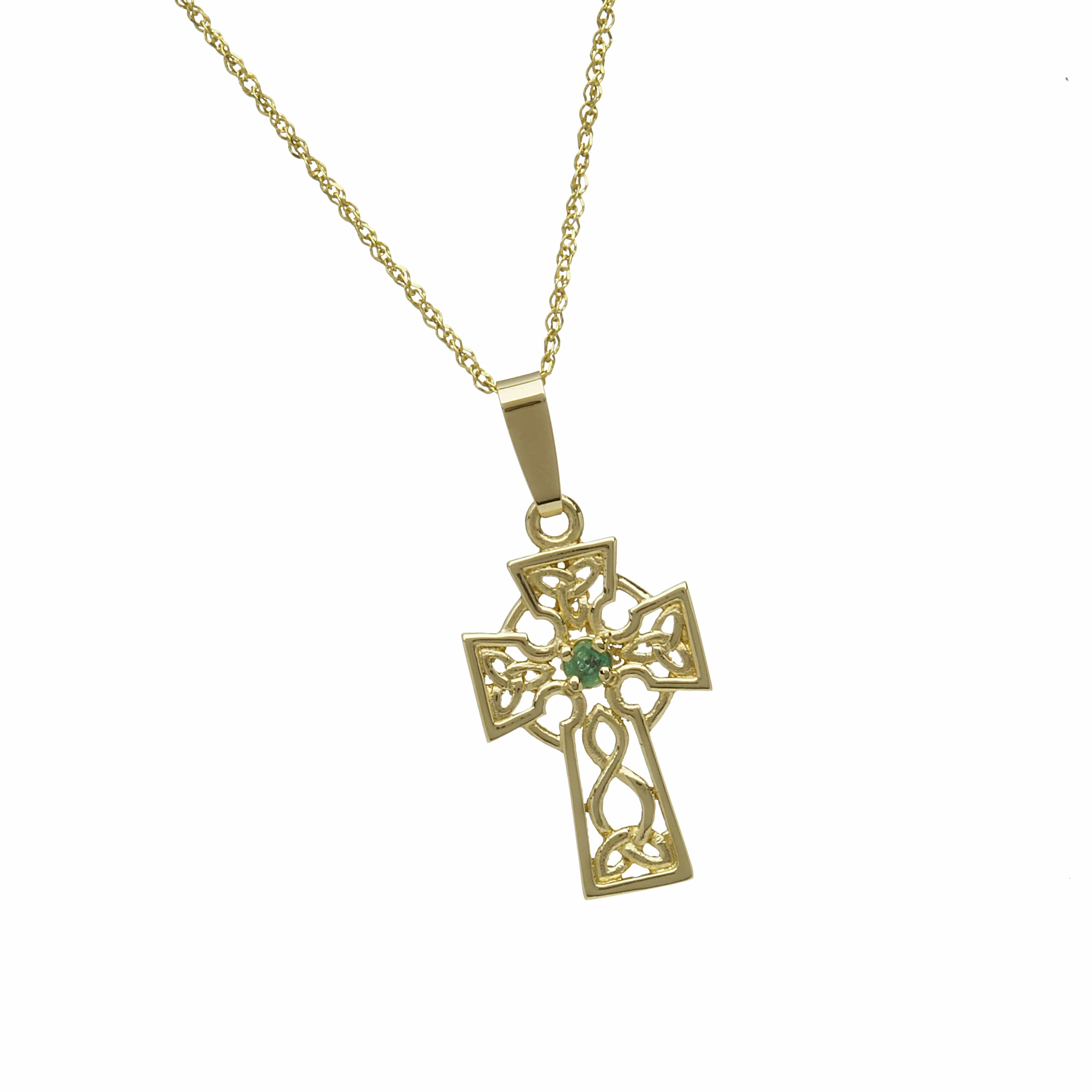 Emerald Set 10Ct Fiigree Cross