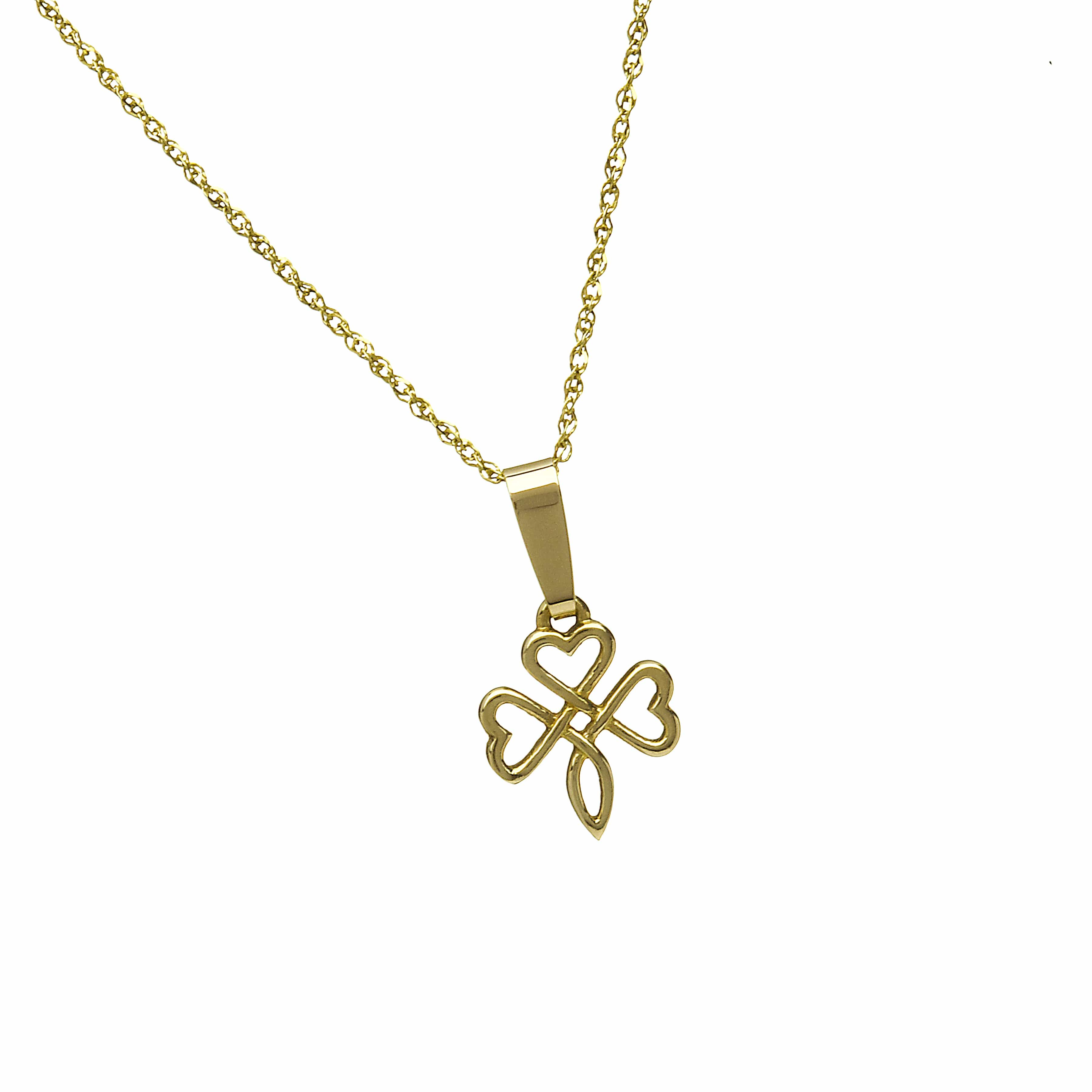 10Ct Open Shamrock Knotwork