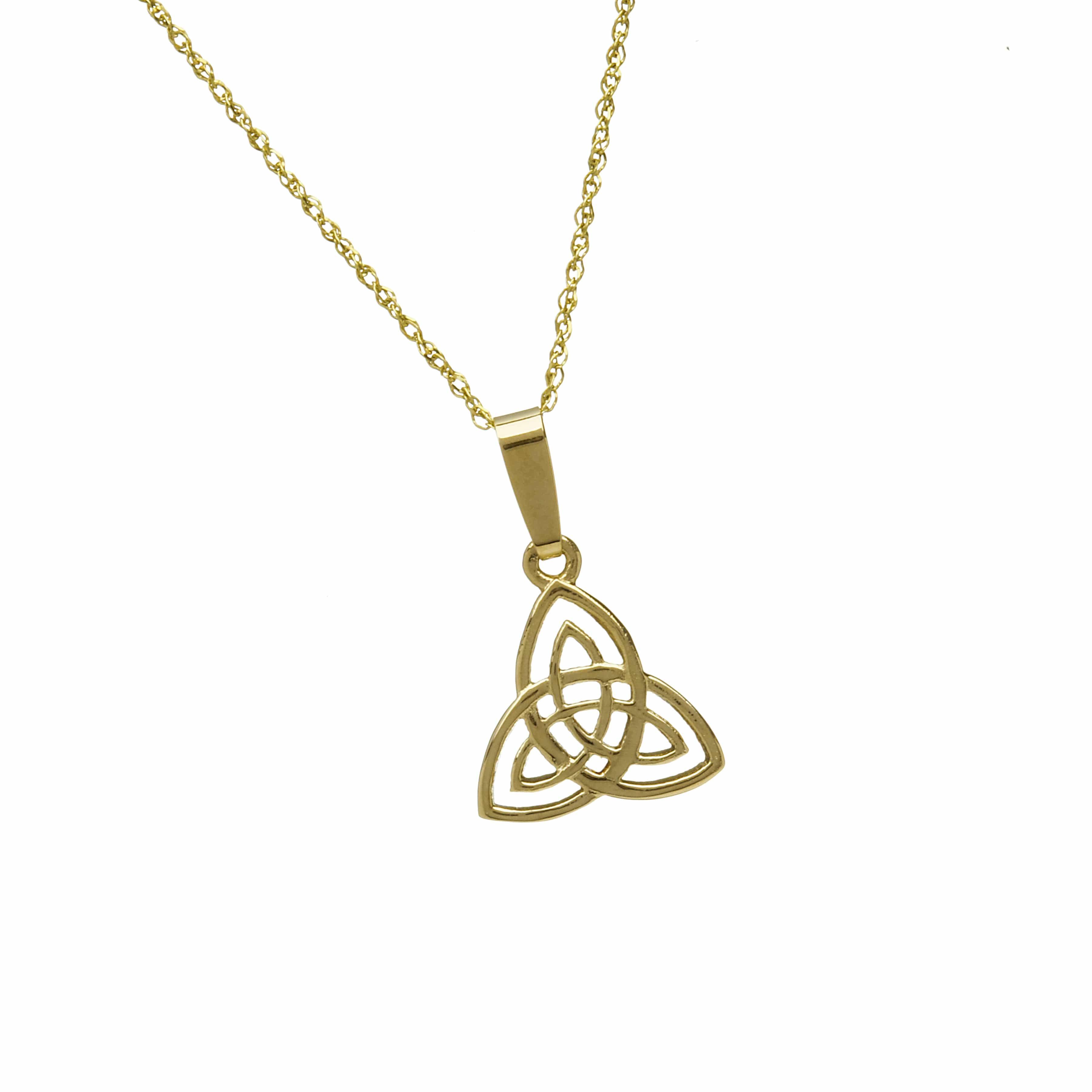 10Ct Trinity Knot Pendant