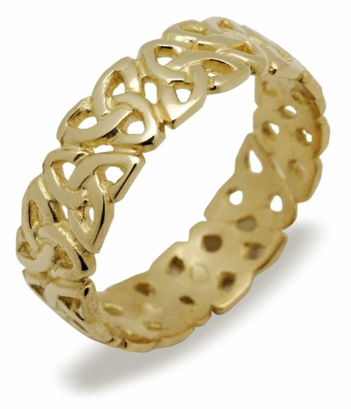10Ct Ladies Trinity Knot Band