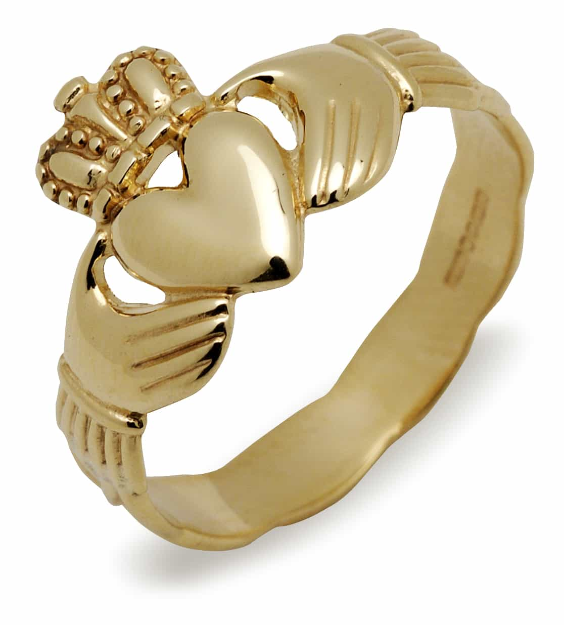 Claddagh & Braided Band 10Ct