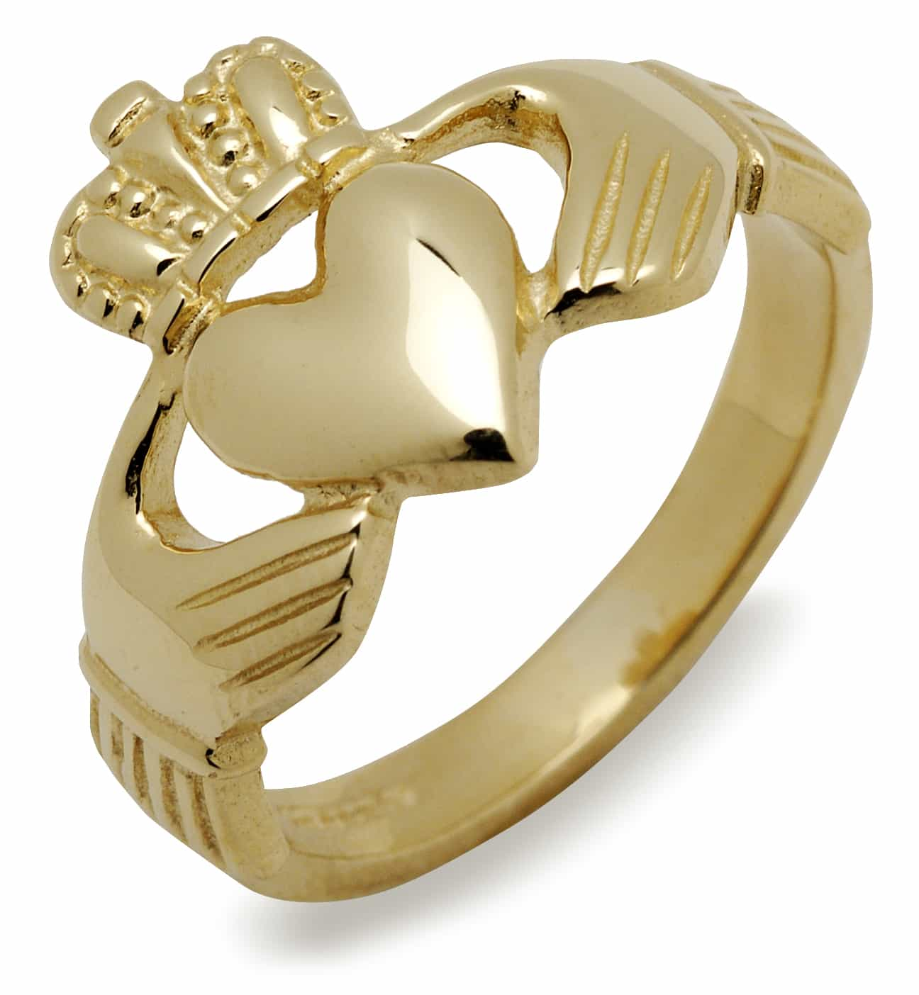 10Kt Gents Heavy Claddagh