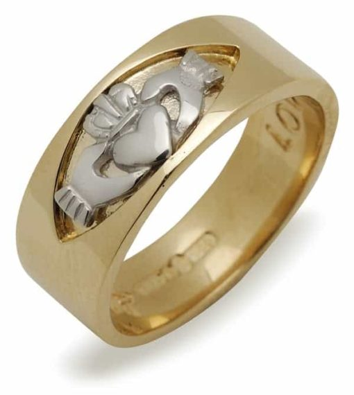 10Kt White Gold Insert Claddagh