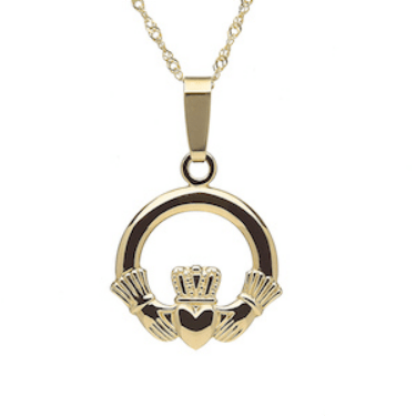 claddagh_necklace_gold