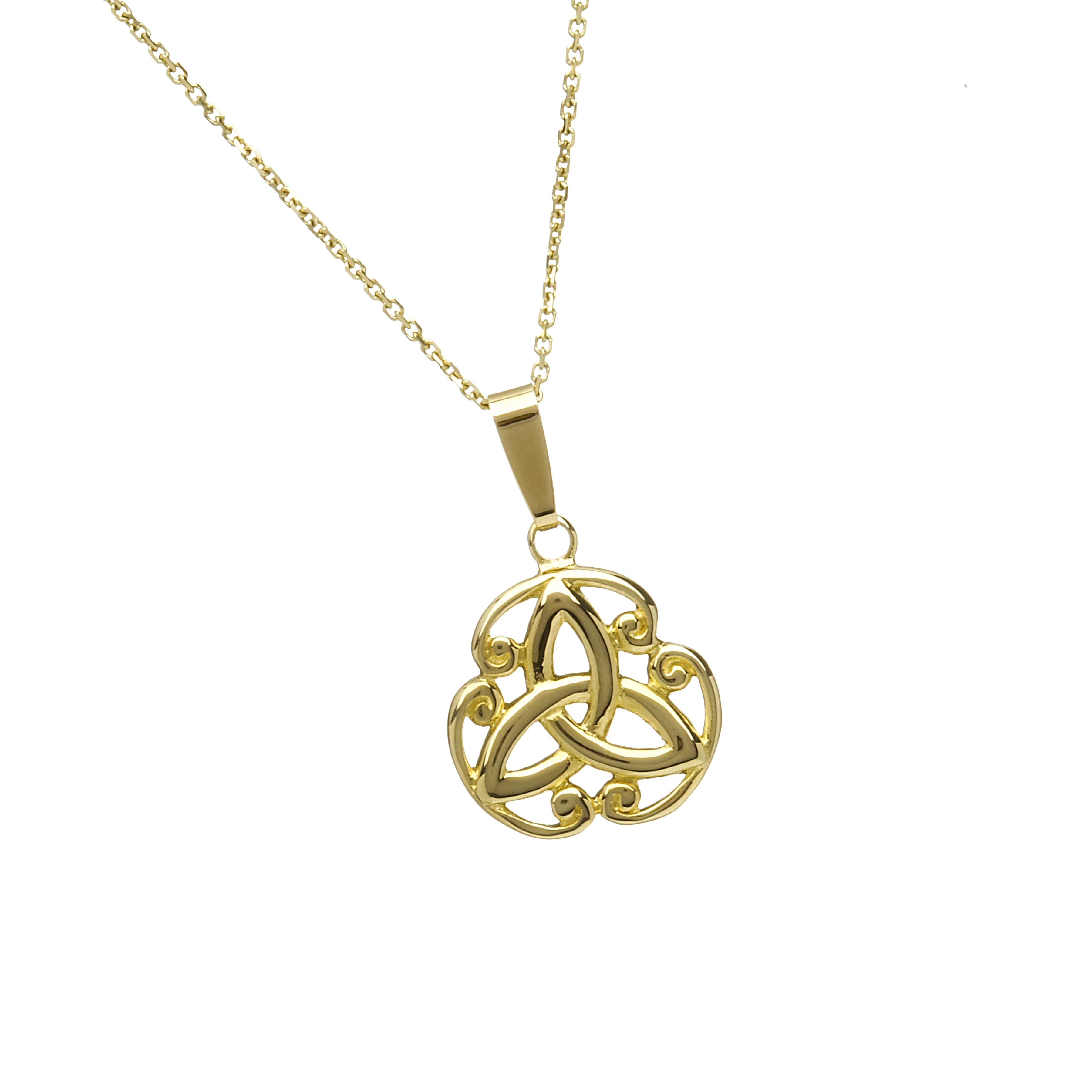10ct Trinity Knot Design Pendant 18 Quot Chain Celtic