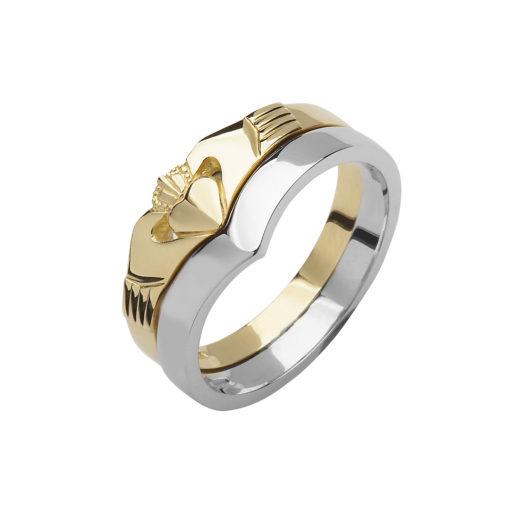 10ct white gold wishbone band Celtic Designs Jewelry